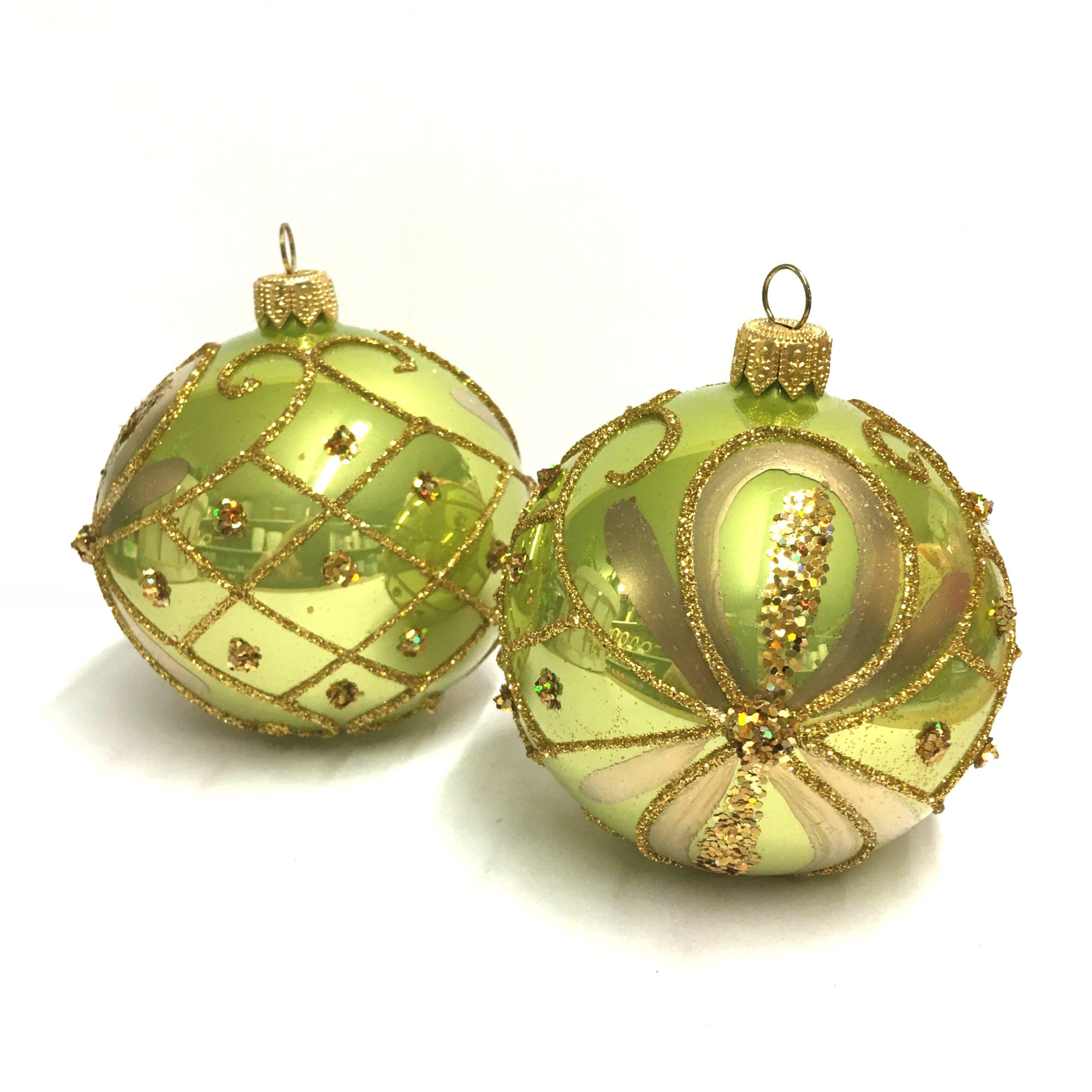 Bombki choinkowe szklane zielony