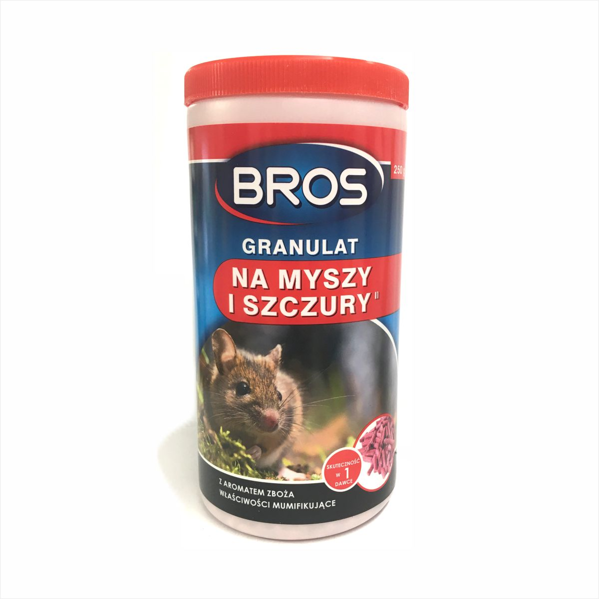 Granulat na myszy i szczury 250 g Bros
