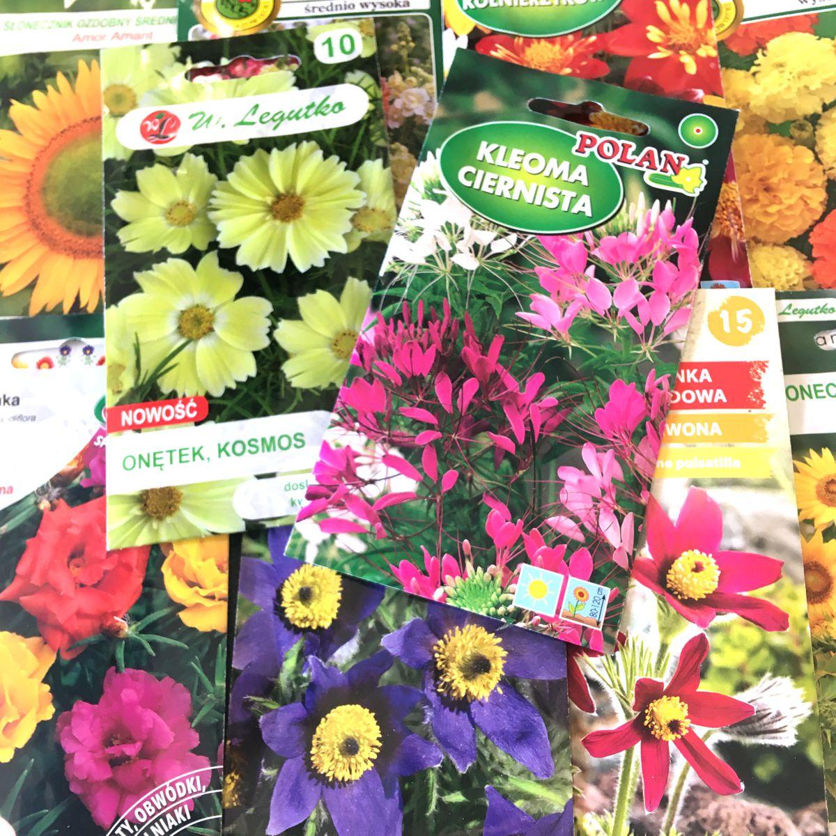Kwiaty nasiona różne
