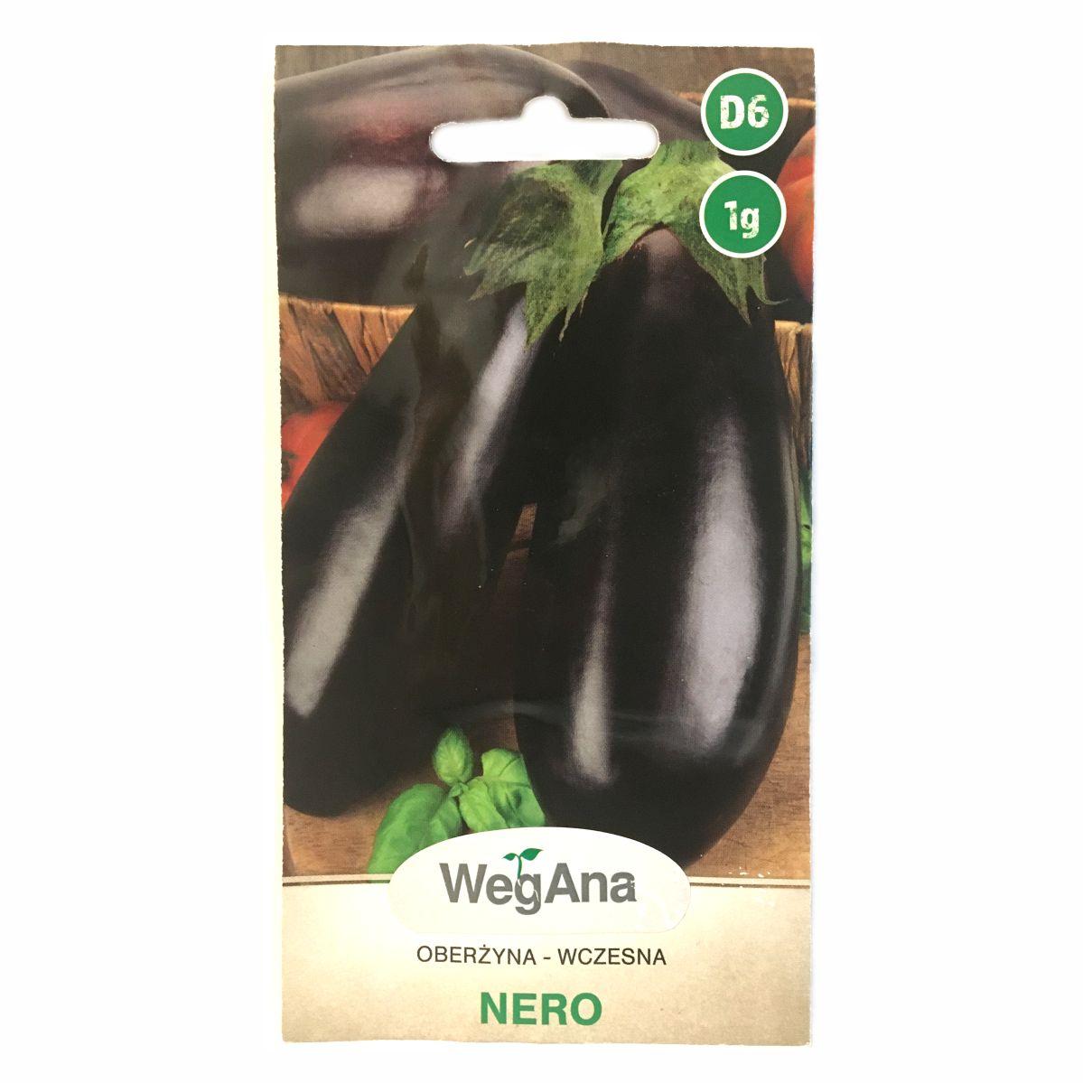 Oberżyna bakłażan Nero nasiona WegAna