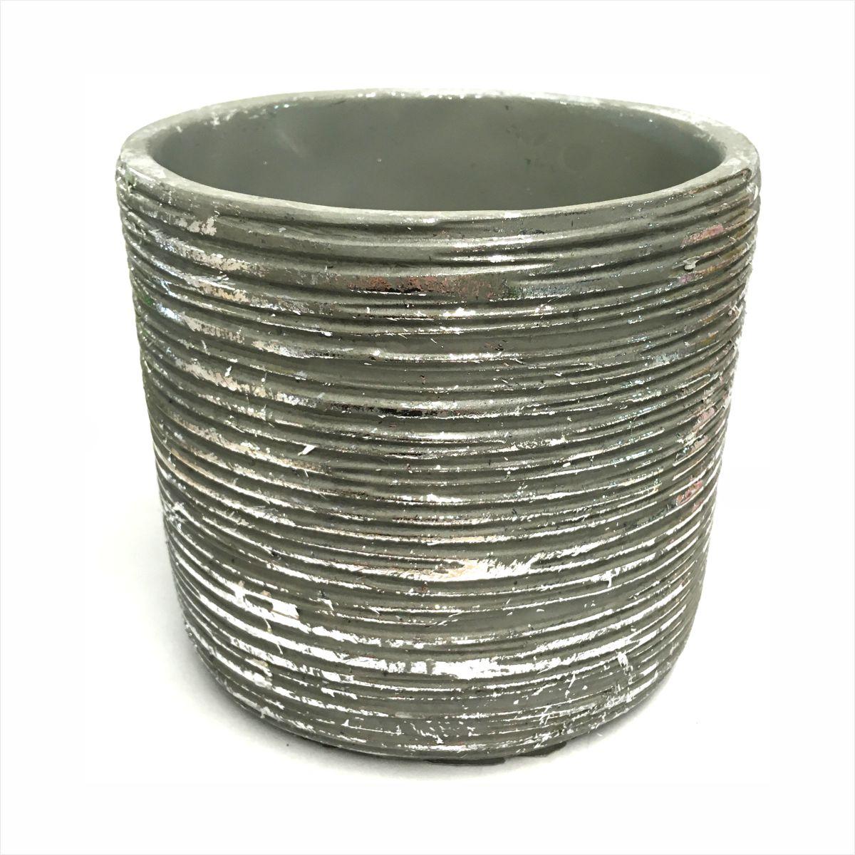 Osłonka ceramiczna srebrna Polnix 14 cm